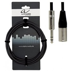 Cable XLR JACK ALPHA AUDIO 3 M