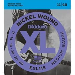 CORDES D'ADDARIO EXL115
