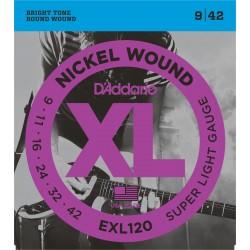 CORDES D'ADDARIO EXL120